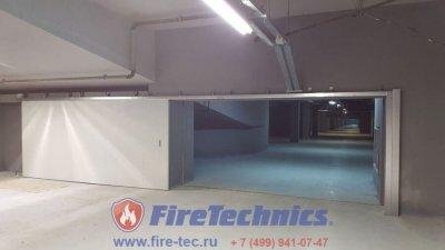 Противопожарные автоматические откатные ворота