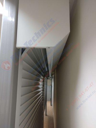 Рулонные ворота FireTechnics из металлического профиля М80